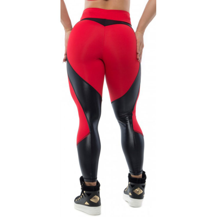 BFB Activewear Leggings Sweet Heart - Red/Blackv