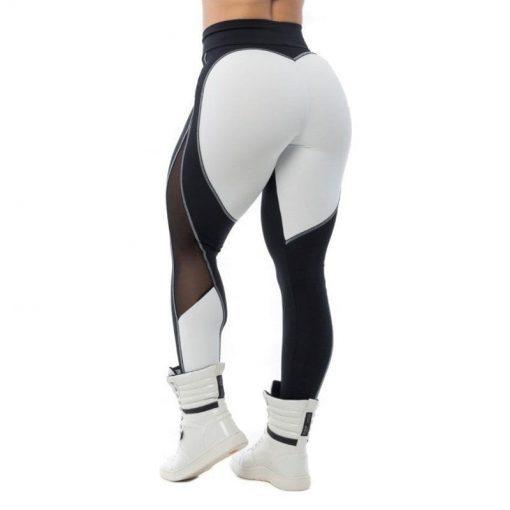BFB Activewear Fabulous Sports Bra Top - Black/White