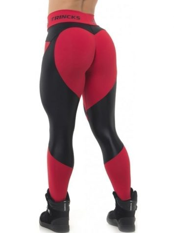 BFB Activewear Leggings Sweet Heart – Red/Black