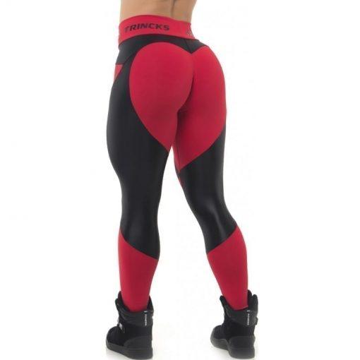 BFB Activewear Leggings Sweet Heart - Red/Black