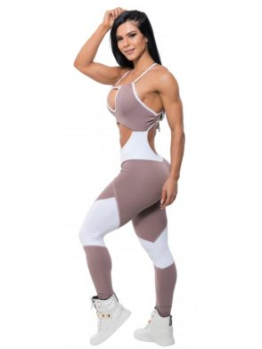 BFB Activewear Jumpsuit Fabulous Amora One Piece – blackberry