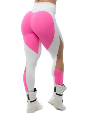 BFB Activewear Leggings Sweet Heart – Pink/White