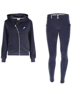 FREDDY WR.UP Chenille Tracksuit with with a hood-Navy