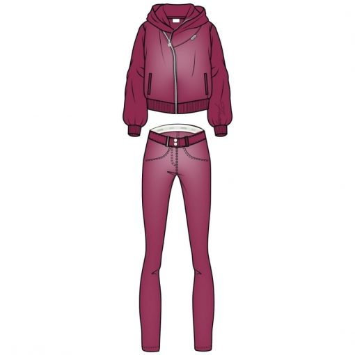 FREDDY WR.UP Chenille Tracksuit with with a hood-Fuchsia