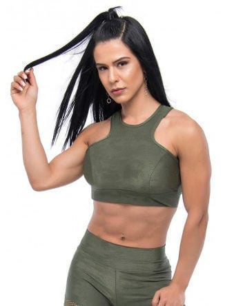 BFB Activewear Cropped Top Stronger – Green