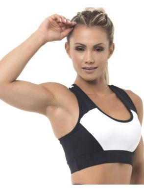BFB Activewear Fabulous Sports Bra Top – Black/White