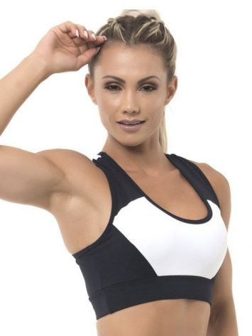 BFB Activewear Fabulous Sports Bra Top – Red/Black