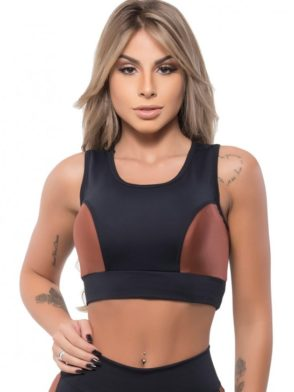 BFB Activewear Sports Bra Top Gold – black/gold