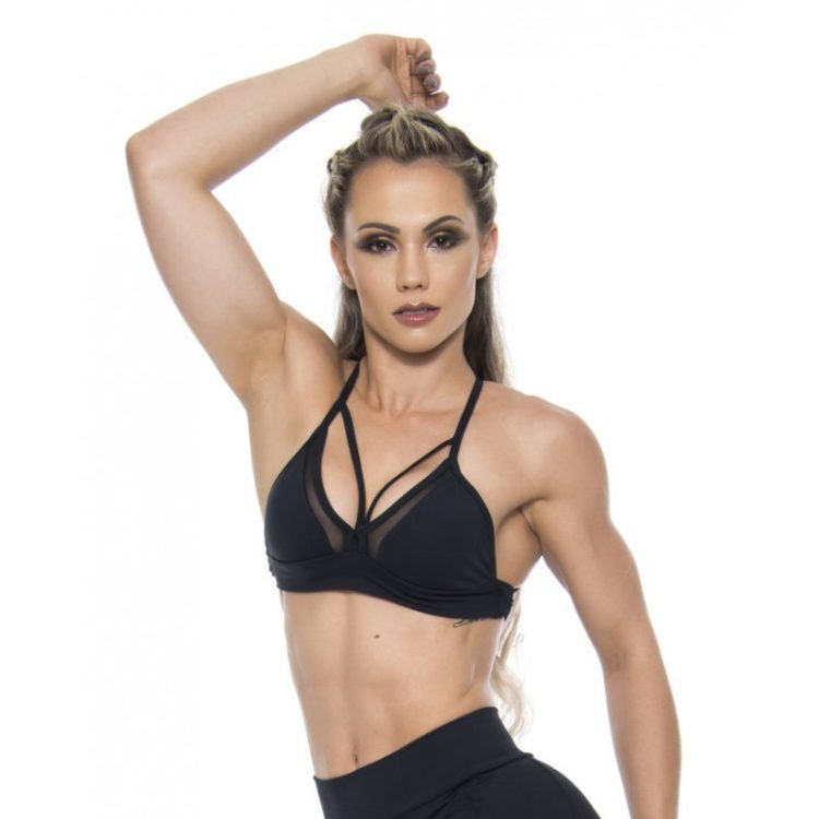 BFB Activewear Sports Bra Top Hot Girl - Black