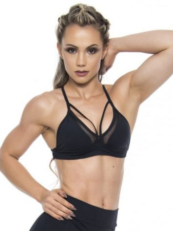 BFB Activewear Sports Bra Top Hot Girl – Black