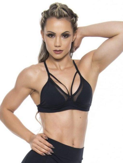 BFB Activewear Sports Bra Top Hot Girl - Black