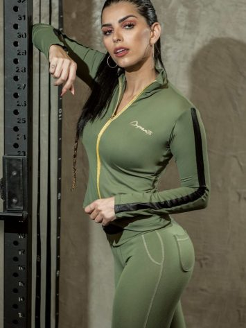 DYNAMITE BRAZIL Victory Jacket CA502 – Sexy Workout Long Sleeve Jacket
