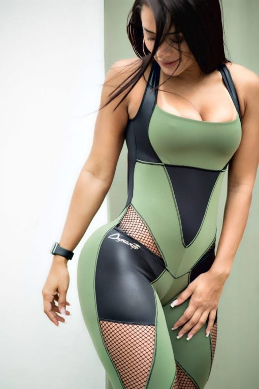 DYNAMITE Brazil Jumpsuit ML2012 Martial Green One Piece
