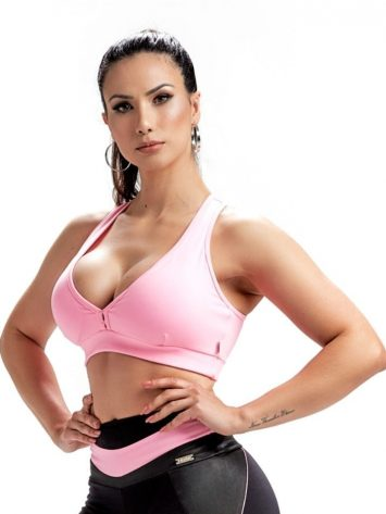 Sports Bra Top Dynamic 27242 Rosa Yogurte – Sexy Sports Bra