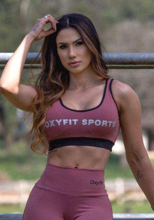 Oxyfit Sports Bra Top Active 27240 Dusty Rose