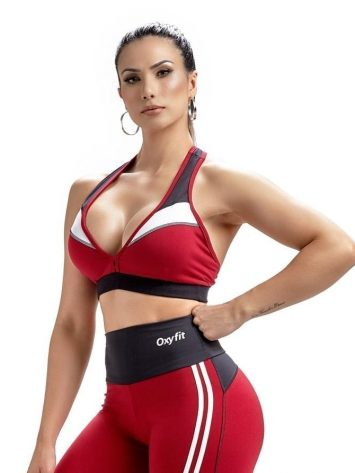 Oxyfit Sports Bra Top Champion 27251 Red White Black