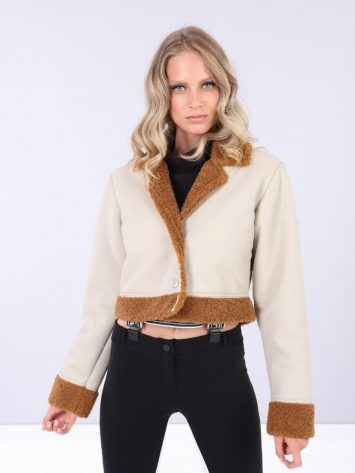 FREDDY Long Sleeve Jacket S0WTWJ7- Cobblestone/Teddy Bear Brown