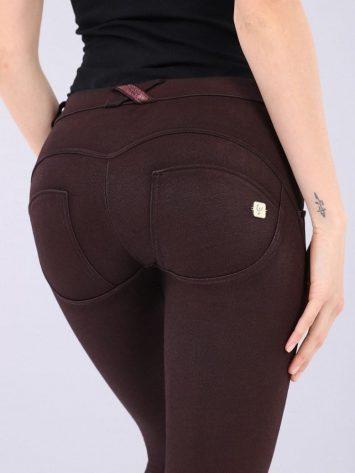 FREDDY WR.UP Evolution Coated Denim Pants WRUP2RF909- Tawny Port