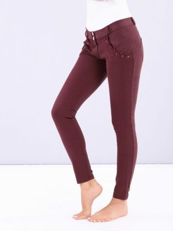 FREDDY WR.UP Evolution Wrup Snug Rope Pocket Pants WRUP2RF911- Burgundy