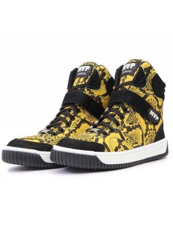 MVP Fitness Sneak Print Yellow Workout Sneakers