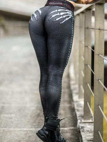 DYNAMITE BRAZIL Leggings L400 Naughty Skeleton Pants
