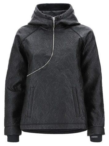 FREDDY Hooded Jacket – Curved Zip – CURVE2F901 -Black
