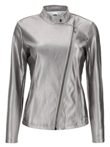 FREDDY WRUP LONG SLEEVE JACKET – S0WTWJ5 -Silver