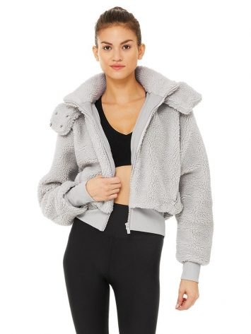 ALO Yoga Sherpa Jacket (Dove Grey)