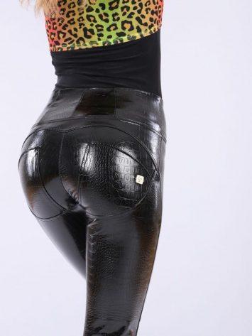 FREDDY WR.UP – High Waist -Crocodile Effect Faux Leather -WRUP1HS011-Black