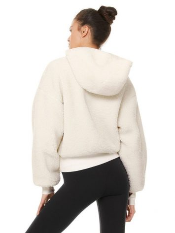 ALO Yoga Streetside Half Zip Sherpa Hoodie Jacket Pristine