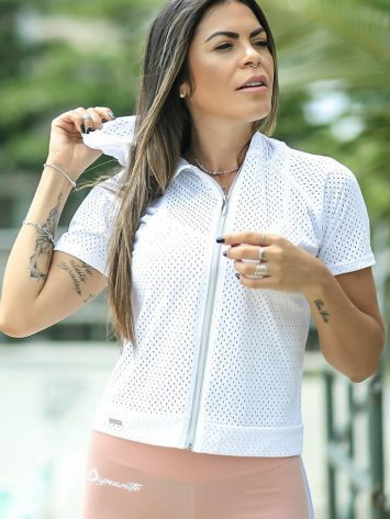 DYNAMITE BRAZIL Hoody Top BL500 Avenger Blouse White