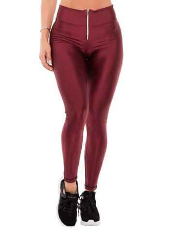 BFB Activewear Leggings Cirre w/Zipper – Marsala