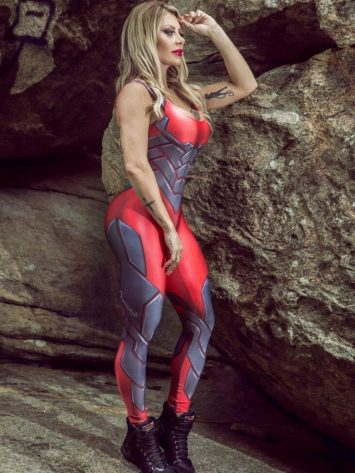 DYNAMITE Jumpsuit Macacao ML2080 Cosmic Legacy Red