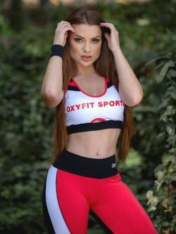 Oxyfit Sports Bra Top Vox 27244 White Pink – Sexy Sports Bra