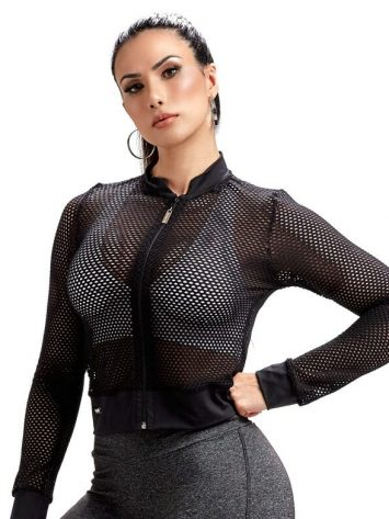 OXYFIT Mesh Jacket – Jaqueta Harrow – Long Sleeve – Black