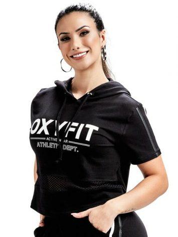 OXYFIT Sweat Jacket Welfare 50171 – Hoody Crop – Black