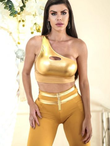 DYNAMITE BRAZIL Top Cropped – T207 – Feier – Gold