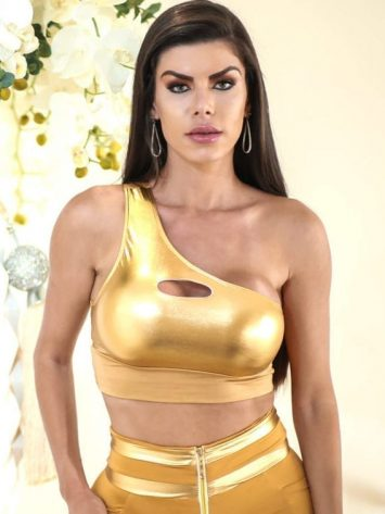 DYNAMITE BRAZIL Top Cropped - T207 - Feier - Gold