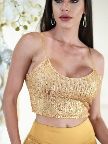 DYNAMITE BRAZIL Top Cropped – Gold Party PaeteDYNAMITE BRAZIL Top Cropped – Gold Party Paete