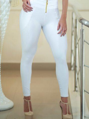 DYNAMITE BRAZIL Leggings Kutlama – w/zip – White