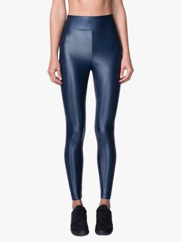 Lustrous High Rise Legging – Midnight Blue