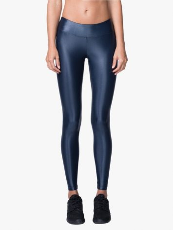 Lustrous Mid Rise Legging – Midnight Blue
