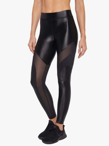 Frame High Rise Infinity Legging – Black Mesh