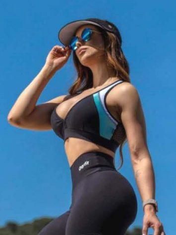 Oxyfit Sports Bra Top Luster – 27258- Aqua