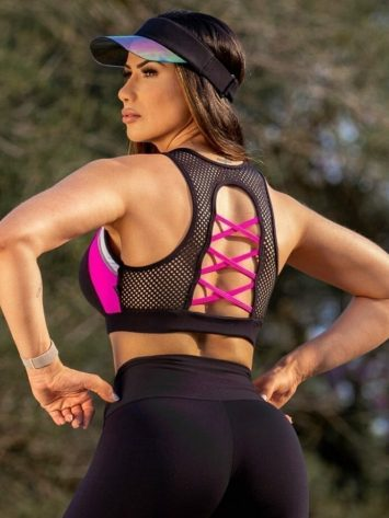 Oxyfit Sports Bra Top Luster – 27258- Pink