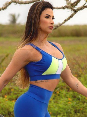 Oxyfit Sports Bra Top Farol – 27274 – Blue/Lemon