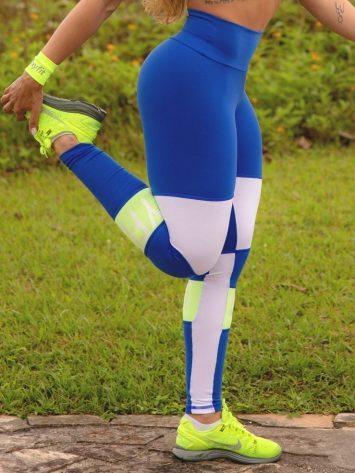 Oxyfit Leggings Farol – 64267 – Blue/Lemon