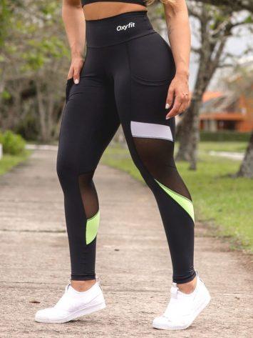 Oxyfit Leggings Genipabu – 64268 – Black/Lime