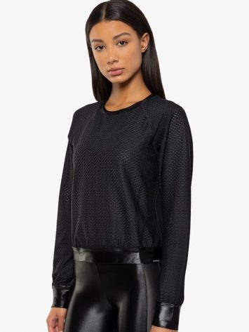 Koral Sofia Pullover Sweater – Black