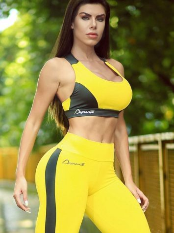 DYNAMITE BRAZIL Sports Bra Top – Yellow Melosa Swimmer